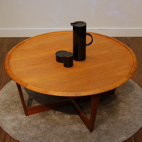 Mid Century Modern Teak Round Coffee Table