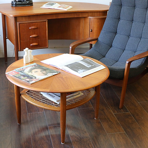 Mid-Century Modern Teak Occasional Round Table