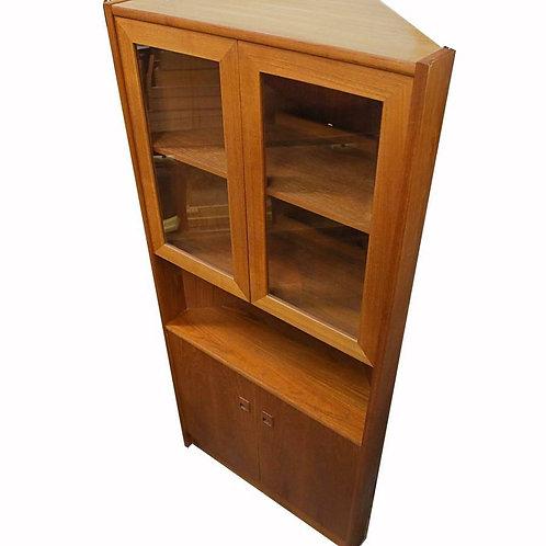 Vintage Teak Corner Cabinet.