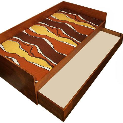 Mid Century Danish Modern Teak Trundle Bed