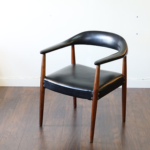 Mid-Century Modern Walnut Accent Chair