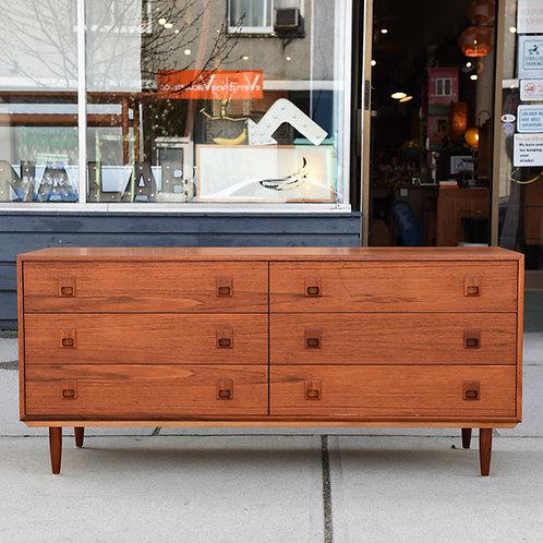 Vintage Teak 6 Drawers Dresser