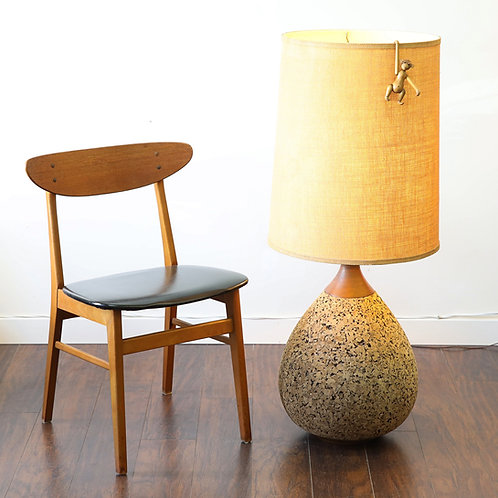 Fab Huge Floor lamp, Cork base and drum shade