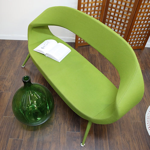Rare, Unique Green wool fabric sofa, Conversation piece