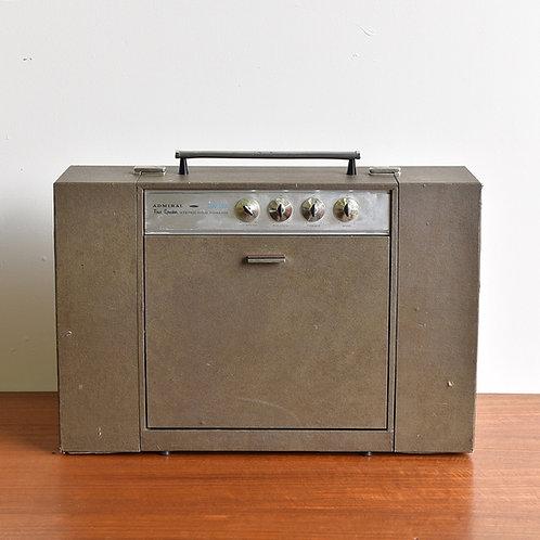 Vintage Admiral Suitcase Turntable