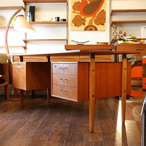 Danish Modern Teak Desk by Torben Strandgaard