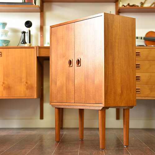 Vintage Teak Hallway Cabinet/Table