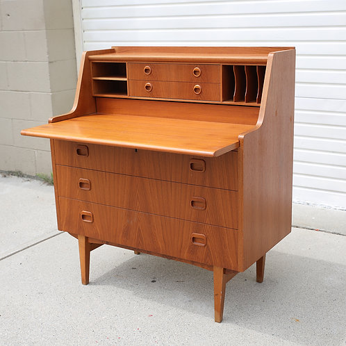 Swedish MCM Teak Secretary Desk/Bureau
