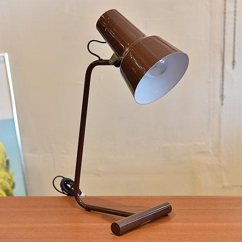 Brown metal desk lamp