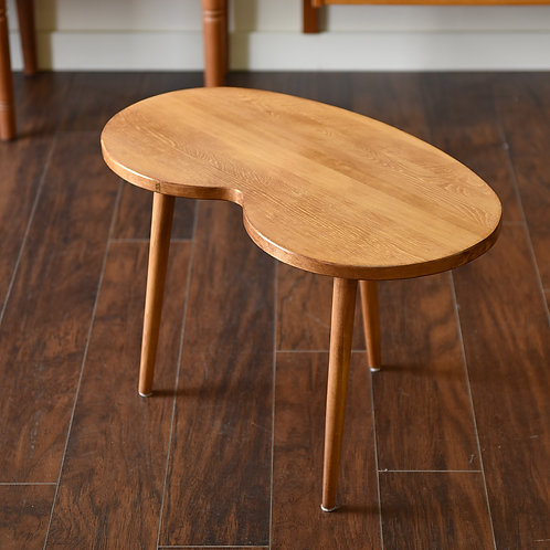 MCM Style Locally Handmade Kidney/Bean Shape Side Table
