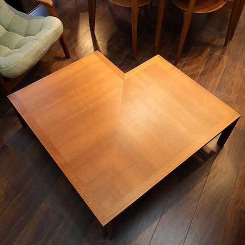 "Danish Modern ""Moduline"" Teak Corner Table by Ole Gjerløv-Knudsen & Torben Lind"