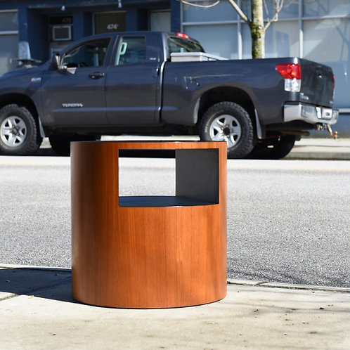 Vintage MCM Teak Drum End Table by RS Associates, Montreal