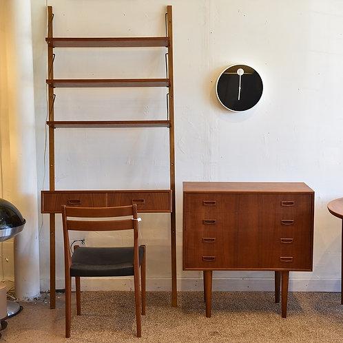 Danish Modern Teak Wall Unit & Matching Dresser