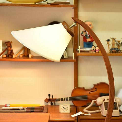 Vintage MCM Teak Arc Lamp