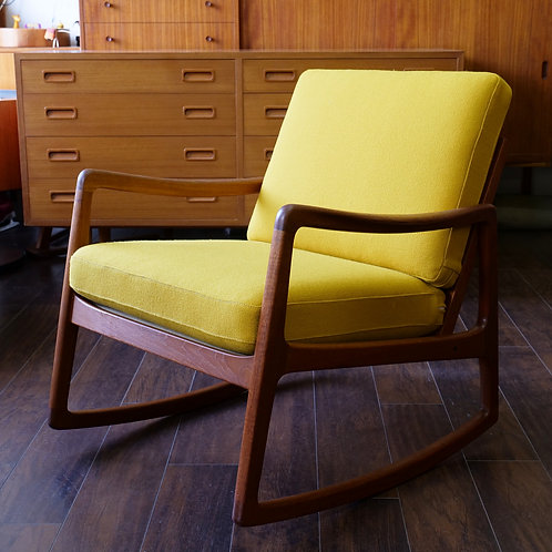 DANISH TEAK ROCKING CHAIR by OLE WANSCHER FOR FRANCE & SON