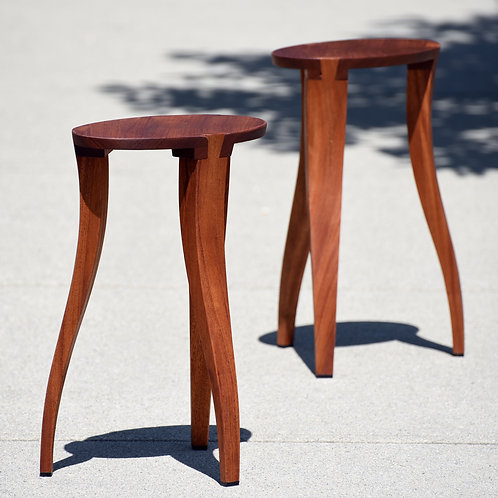 One of a Kind Solid Wood Stool / Side Table by Local Artisan