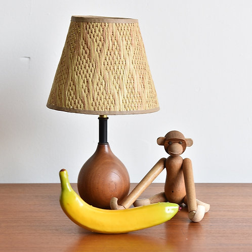 Vintage Mini Teak Lamp