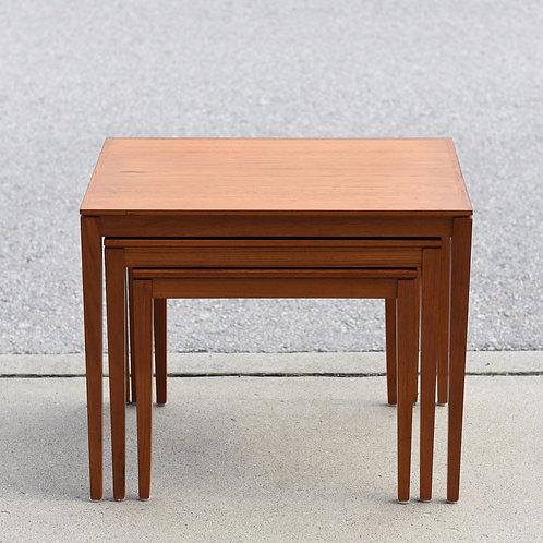 Mid Century Danish Modern Teak Nesting Tables
