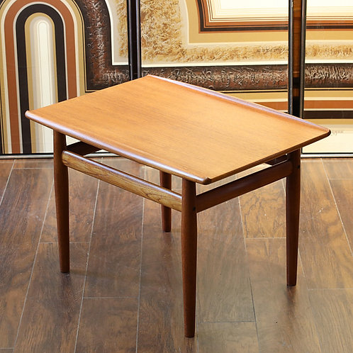 Iconic Danish Modern Teak Side Table by Grete Jalk