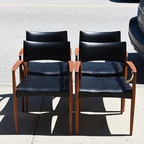 Danish Modern Teak Dining Armchairs by V.S. Anderson