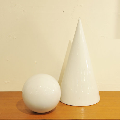 Viintage White Ceramic Ball