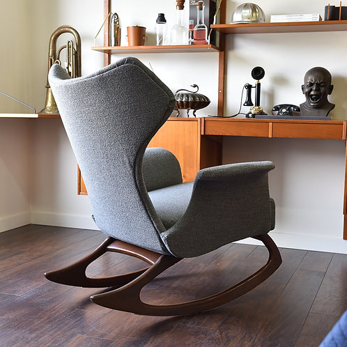 30%OFF, Vintage Mid-Century Modern Wingback Rocking Chair