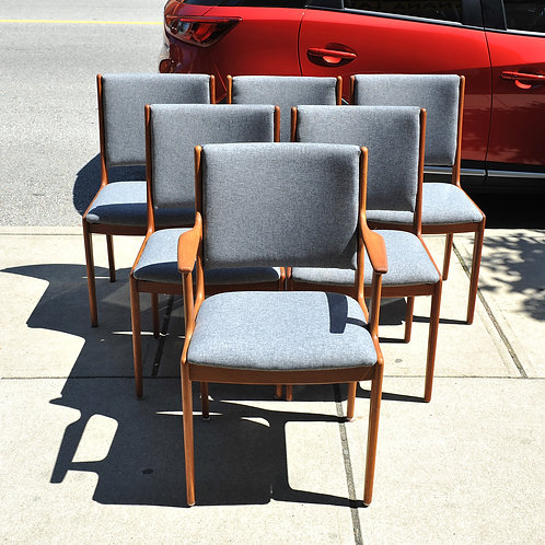 Mid Century Modern 6 Dining Chairs