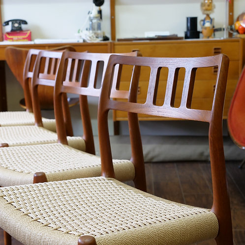 Danish Teak #79 Dining Chairs by Niels O. Møller by J.L. Møllers Møbelfabrik