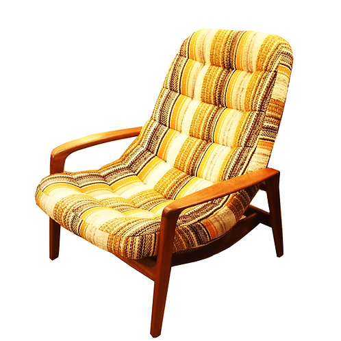 Iconic Canadina mid century modern teak lounger by R Huber