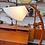 Thumbnail: Vintage MCM Teak Arc Lamp