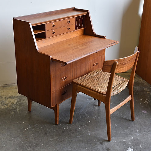 Swedish Teak Secretary Desk