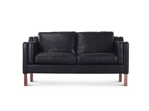 Real Leather upholstery, love seat
