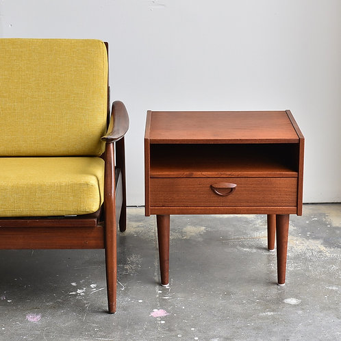 Danish Modern Teak Bedside or End Table