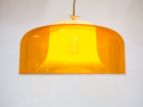 Unique yellow acrylic hanging lamp Made in Netherlands