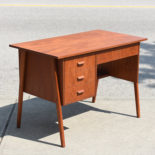 Practical Danish Modern Teak Desk
