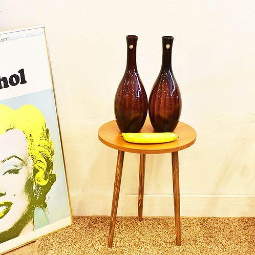 Purple Murano glass vases Pair