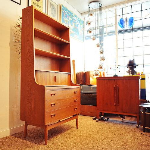 Danish Oak Secretary Desk by Bornholms Mobelfabrik Nexo