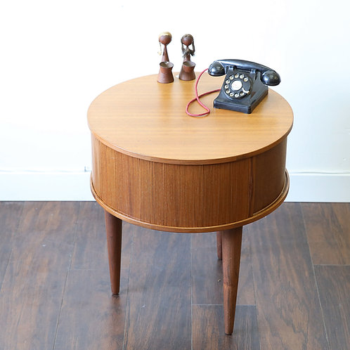 Unique roll tambour doored, coffee table