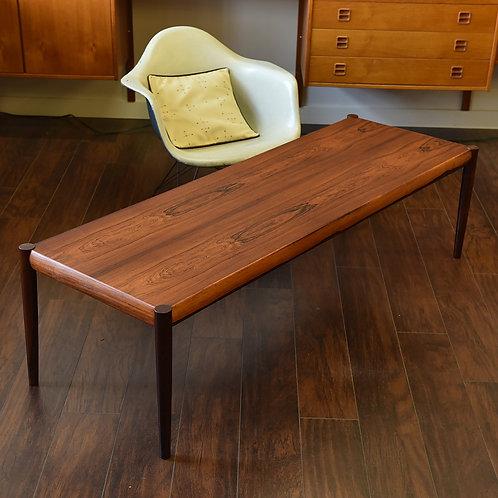 Coffee table, Knud Kristiansen's design, Beautiful rosewood grain