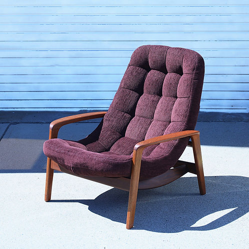 Iconic Canadian MCM Teak R. Huber & Co Scoop Chair
