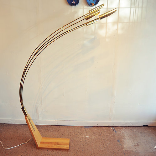 Retro Vintage Golden Arc Floor Lamp
