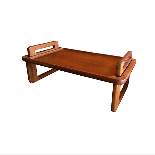 Dansk bed tray, tiny coffee table. Solid teak