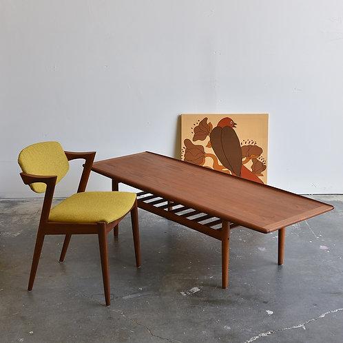 Danish Modern Teak Coffee Table by Grete Jalk for Glostrup Mobelfabrik