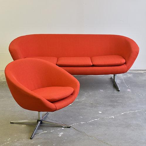 Vintage Overman Sofa + Lounger set