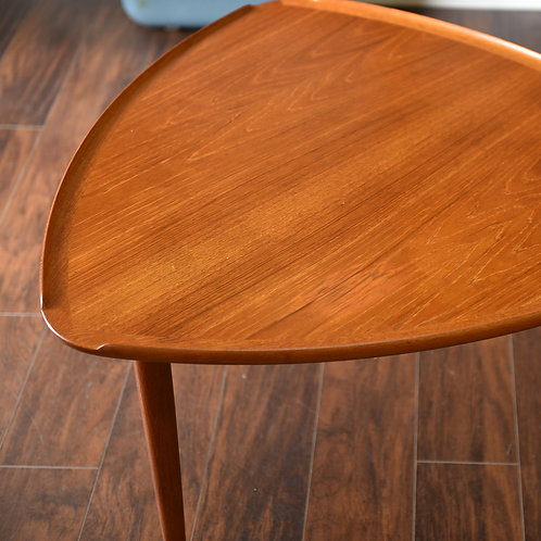 10%OFF, Danish Teak Triangle Side Table Made in Denmark by CFC Silkeborg