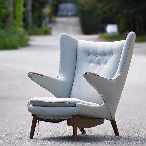 Vintage PAPA BEAR Chair by Hans J Wegner for AP Stolen