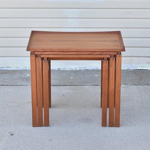 Mid-Century Modern Teak Nesting Tables