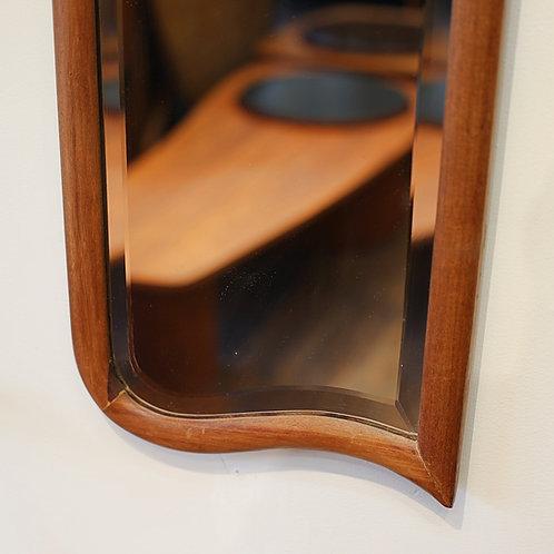 Unique Vintage MCM Mahogany Mirror