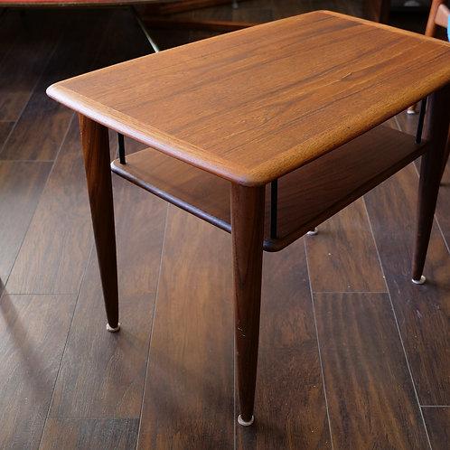 Rare Trapzoid teak coffee table, Peter Hvidt's style
