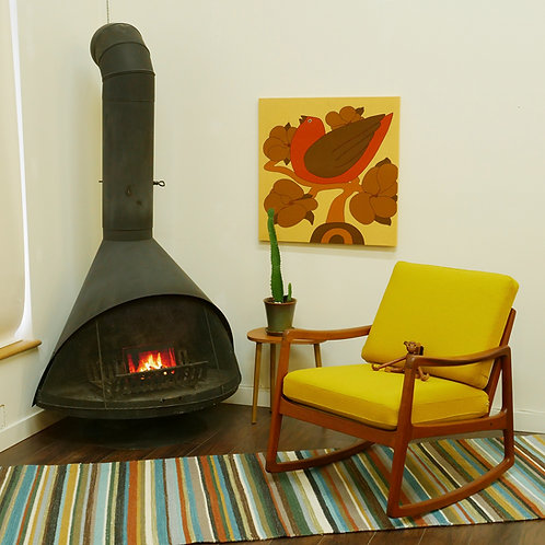 Vintage MCM Cone Fireplace designed by Wendell Lovett